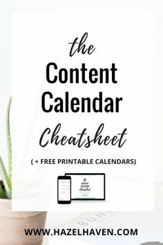 The Content Calendar Cheatsheet  Inside you will learn:  • The one mistake content creators make and how to fix it! • Examples of content you can use for any niche. • Get 4 EASY steps to follow that will set your content calendar up for success!  PLUS printable content calendars and more!  #contentmarketing #contentcalendar #blogging #smallbusiness