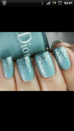 Duck egg blue nails  #duckegg #duckeggweddings #bluewedding #duckeggblue #weddinginspiration