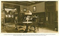 Dining Room finished with Mahogany from 1915 pre-finished woodwork brochure