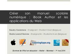 Créer son manuel scolaire numérique - Sommet de l'iPad 2014 Montreal