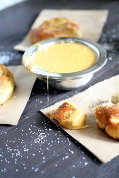 Pretzels and beer cheese dip