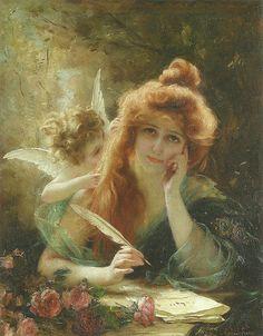 "Gabriel-Joseph-Marie-Augustin Ferrier (French, 1847-1914), ""The love letter"""