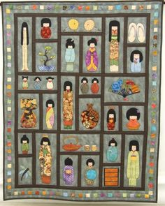 Japanese doll quilts