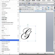 For MS Word: DIY How to make a monogram using the computer with step by step pictures...stationery..labels .. here I come!