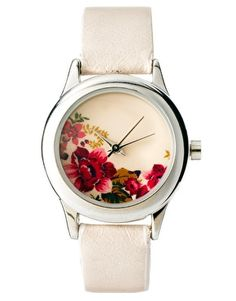 Floral print watch. Obsessed.