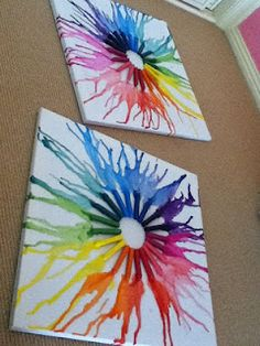Melted Crayon Art: Use Crayons And Hair Dryer!