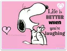 Snoopy laughing