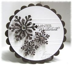 Black snowflakes - neat! Teresa Kline card via SCS