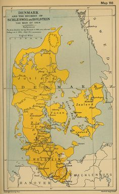 Old map of Denmark