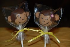 Monkey cake pops...too cute!