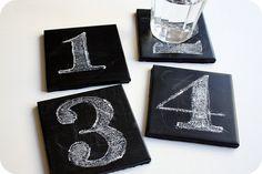 Chalkboard Coasters.....Brilliantness