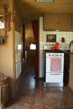 beautifully restored vintage trailer...