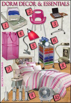 Dorm Room Ideas - Decor & Essentials