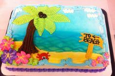 #beach#cake#birthday