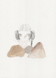 Listening from prettylittlethieves on Etsy  #art #painting #pretty #artist #etsy #girl