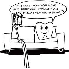 humor dentistgrantsvill, dentalhumor, dental humor, bristl, dental cartoon