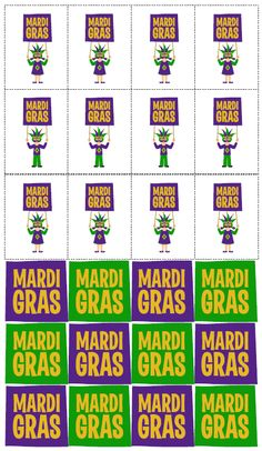 Mardi Gras Printables from Love Party Printables