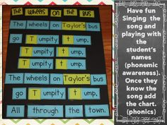 Mrs Jump's class: The Wheels on the Bus Interactive Chart FREE Download. #Phonemic Awareness #Phonics