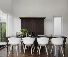 interior, crush monday, modern chairs, dine room, farmhouse table