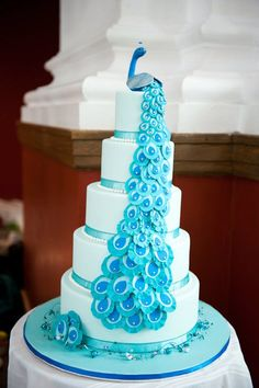 Peacock wedding ideas, cake