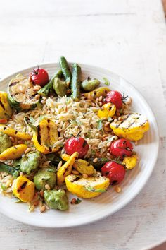 Grilled Squash and Orzo Salad