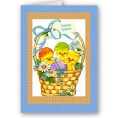 #cards #easter #zazzle #elenaindolfi Easter Basket Card by elenaind