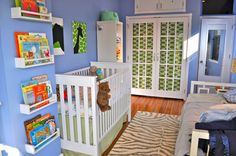 Love the closet doors. the spice rack book shelbes. small space but big enough for a shared room