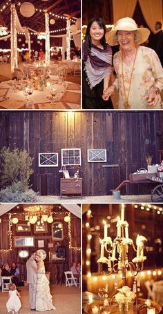 wedding photography, barn reception, barn decorations, rustic look, barn weddings, old windows, wedding photos, vintage windows, old wagons