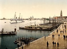 The Royal Yacht Hohenzollern in Venice, Italy, ca. 1896