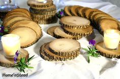 Rustic Wedding Coasters Table Decoration Ash Wood by HomenStead, $2.00