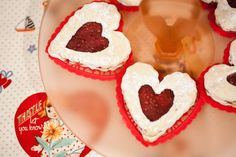 Cute Cookies from this Vintage Valentine's Day Party via Kara's Party Ideas - The Place For All Things Party KarasPartyIdeas.com #heartcookies #vintagecookies #valentinesdaytutorials