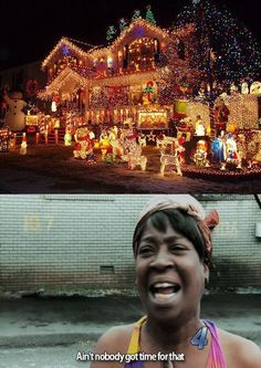 time, funni stuff, sweet brown, christmas lights, meme, grumpy cats, christmas houses, aint, house decorations