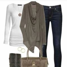 Simple, easy to mix & match pieces are always great.  Love the sweater!