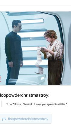 Yes. The Hobbit, Sherlock, and new Star Trek all in one, with two things in common -- Benedict Cumberbatch and Martin Freeman.
