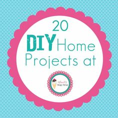 DIY Home Decor I Heart Nap Time | I Heart Nap Time - How to Crafts, Tutorials, DIY, Homemaker