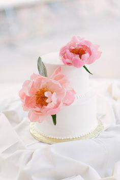 Wedding Cake || On Style Me Pretty || http://www.StyleMePretty.com/california-weddings/2014/02/05/pink-pala-mesa-resort-wedding/ We Heart Photography