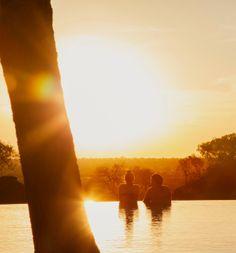Slip into a Serengeti sunset together.