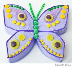 Butterfly Birthday Cake cake idea, birthday parties, kid birthday cakes, kid birthdays, 1st birthday cakes, butterfli cake, 1st birthdays, cake designs, kid parties