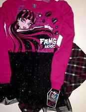 Monster High Girls Outfit Layered  Top And Leggings NEW Size 7/8