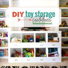 DIY Toy Storage Cubbies
