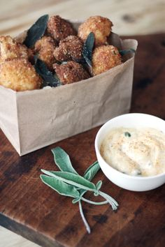 Fried Chicken Livers and Cauliflower with Sage and Spicy Aioli {recipe}