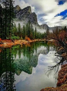 Gods Beauty has no ENDS‼️Reflection, Yosemite, California photo via lynn❤️