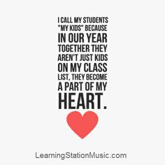 Teachers share with us how children truly enrich their lives in ways that cannot even totally be put into words. They carry the memories of their students (kids) in their hearts always. We feel it's vital to support  the dedicated educators who have devoted their lives to our children. #teachers #inspirational