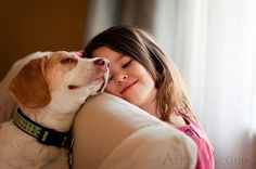 girl and dog by natalie-w