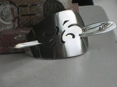 Stick Barrette from upcycled vintage silverplate cake server  $25  www.laughingfrogstudio.etsy.com