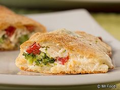 Chicken and Broccoli Hand Pies - Using a secret shortcut ingredient, we've made on-the-go lunches and dinners easier than ever! You'll love this weeknight chicken meal.