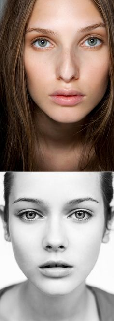 Inspiration for the 'natural beauty' makeup trend taken from the le Fashion blog.  #makeup #natural #beauty