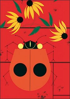 """The Bug that Bugs Nobody (5 x 7"""" Notepad), by Charley Harper. © Estate of Charley Harper"""