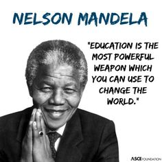 We couldn't agree more with Nelson Mandela. A voice that will truly be missed.#STEM