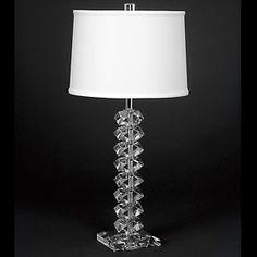 Lampworks 3-Way Crystal Diamond Table Lamp at HSN.com.